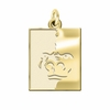 Pittsburg State Gorillas 14K Yellow Gold Natural Finish Cut Out Logo Charm