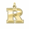 Rutgers Scarlet Knights 14K Yellow Gold Natural Finish Cut Out Logo Charm