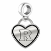 Rutgers Scarlet Knights Border Heart Dangle Charm