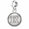 Rutgers Scarlet Knights Border Round Dangle Charm