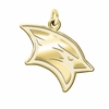 Saginaw Valley State Cardinals 14K Yellow Gold Natural Finish Cut Out Logo Charm