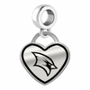 Saginaw Valley State Cardinals Border Heart Dangle Charm