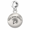 San Jose State Round Dangle Charm