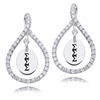 Sigma Sigma Sigam White CZ Figure 8 Earrings