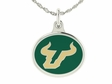 South Florida Bulls Silver Enamel Charm