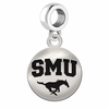 Southern Methodist Round Dangle Charm