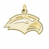 Southern Mississippi Golden Eagles 14K Yellow Gold Natural Finish Cut Out Logo Charm