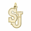 St. John's Red Storm 14K Yellow Gold Natural Finish Cut Out Logo Charm