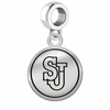 St. John's Red Storm Border Round Dangle Charm