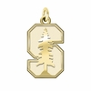 Stanford Cardinal 14K Yellow Gold Natural Finish Cut Out Logo Charm