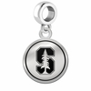 Stanford Cardinal Border Round Dangle Charm