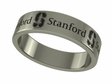 Stanford Cardinals Stainless Steel Ring