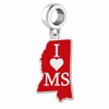 State Cutout Drop Charms