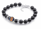 Syracuse Orange Black Pearl Bracelet