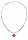 Syracuse Orange Pearl Necklace