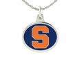 Syracuse Orange Silver Enamel Charm