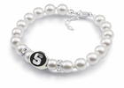 Syracuse Orange White Pearl Bracelet