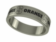 Syracuse Orangemen Stainless Steel Ring