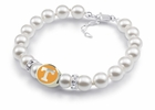 Tennessee Volunteers White Pearl Bracelet