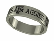 Texas A&M Aggies Stainless Steel Ring