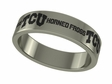 Texas Christian Horned Frogs Stainless Steel Ring