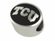 Texas Christian Horned Toad Antiqued Bead