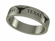 Texas Longhorns Stainless Steel Ring
