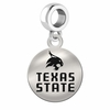 Texas State Round Dangle Charm