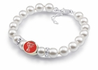 Texas Tech White Pearl Bracelet