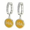 Theta Phi Alpha Hoop Earrings