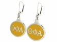 Theta Phi Alpha Silver Earrings