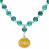 Theta Phi Alpha Turquoise Drop Necklace