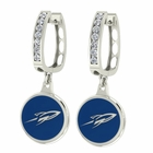 Toledo Rockets CZ Hoop Earrings
