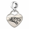 Towson Engraved Heart Dangle Charm