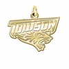 Towson Tigers 14K Yellow Gold Natural Finish Cut Out Logo Charm