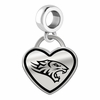 Towson Tigers Border Heart Dangle Charm