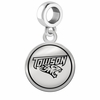 Towson Tigers Border Round Dangle Charm