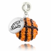 Towson Tigers Crystal Drop Charm