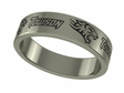 Towson Tigers Stainless Steel Ring