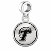 Tulane Green Wave Border Round Dangle Charm