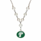 Tulane Green Wave Pearl Necklace