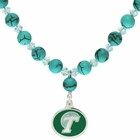 Tulane Green Wave Turquoise Necklace