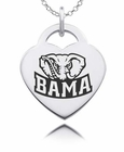 Alabama Crimson Tide Heart Charm