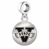 Valdosta State Round Dangle Charm