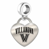 Villanova Engraved Heart Dangle Charm