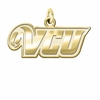 Virginia Commonwealth Rams 14K Yellow Gold Natural Finish Cut Out Logo Charm