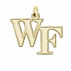 Wake Forest Demon Deacons 14K Yellow Gold Natural Finish Cut Out Logo Charm