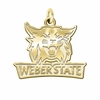 Weber State Wildcats 14K Yellow Gold Natural Finish Cut Out Logo Charm