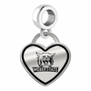 Weber State Wildcats Border Heart Dangle Charm