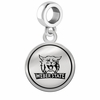 Weber State Wildcats Border Round Dangle Charm